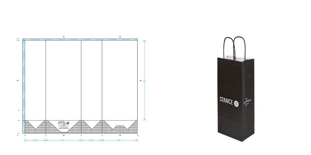 shopping bag template Paper Shopping Bag Templates | E A R T H P A C K